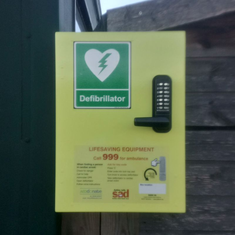 Eccleshall RUFC have a defibrillator