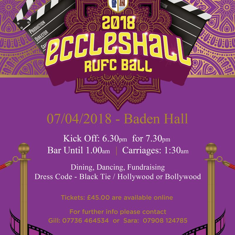 Eccleshall RUFC ANNUAL BALL - SATURDAY APRIL 7TH