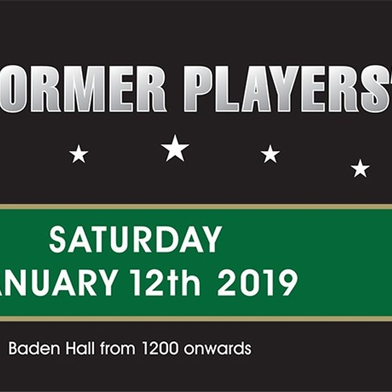 ERUFC will be holding its FIRST EVER Former Players Day on Saturday January 12th 2019.