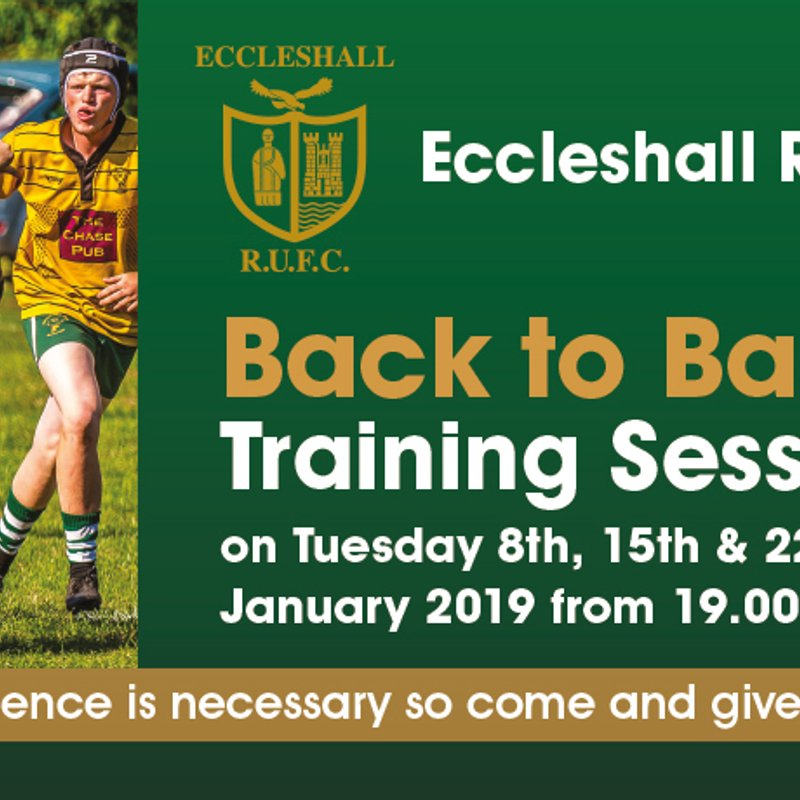 Eccleshall RUFC Back to Basics training - a introduction / reintroduction to rugby