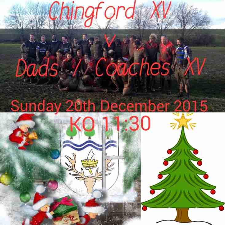 Christmas Dad's / Coaches V Club XV