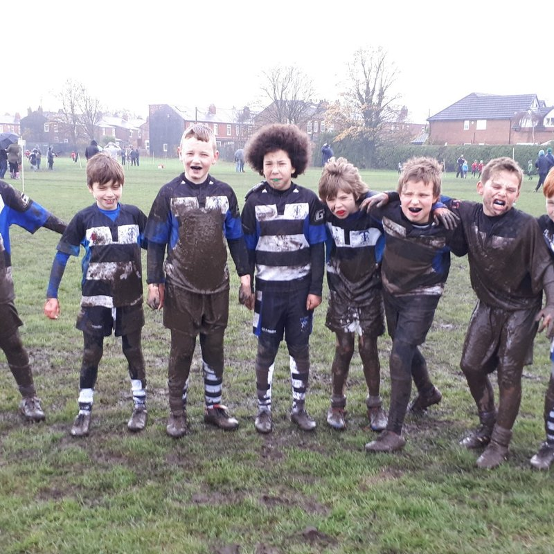 band of brothers U10's get stuck in