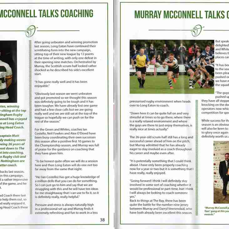 Murray McConnell on Coaching