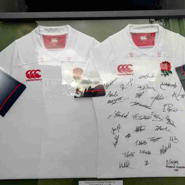 Prized England Shirts Generously Donated to LERFC