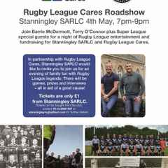 Rugby League Cares Roadshow May 4th CANCELLED