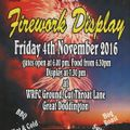 WRFC and Wellingborough Round Table Annual Fireworks Display.