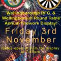 Wellingborough RFC and Wellingborough Round Table Annual Fireworks Display.
