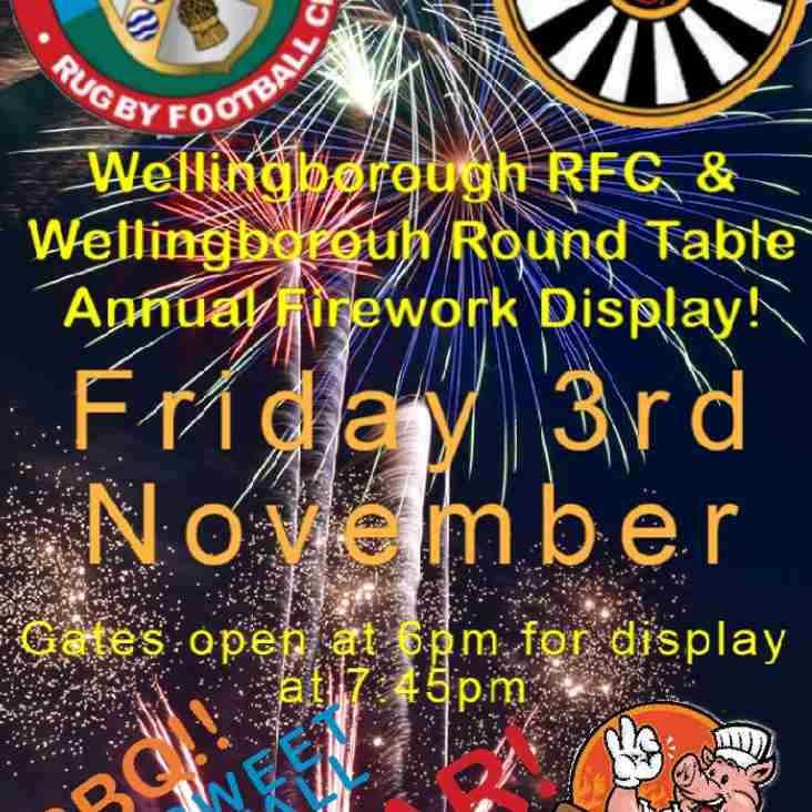Wellingborough RFC and Wellingborough Round Table Annual Fireworks Display.