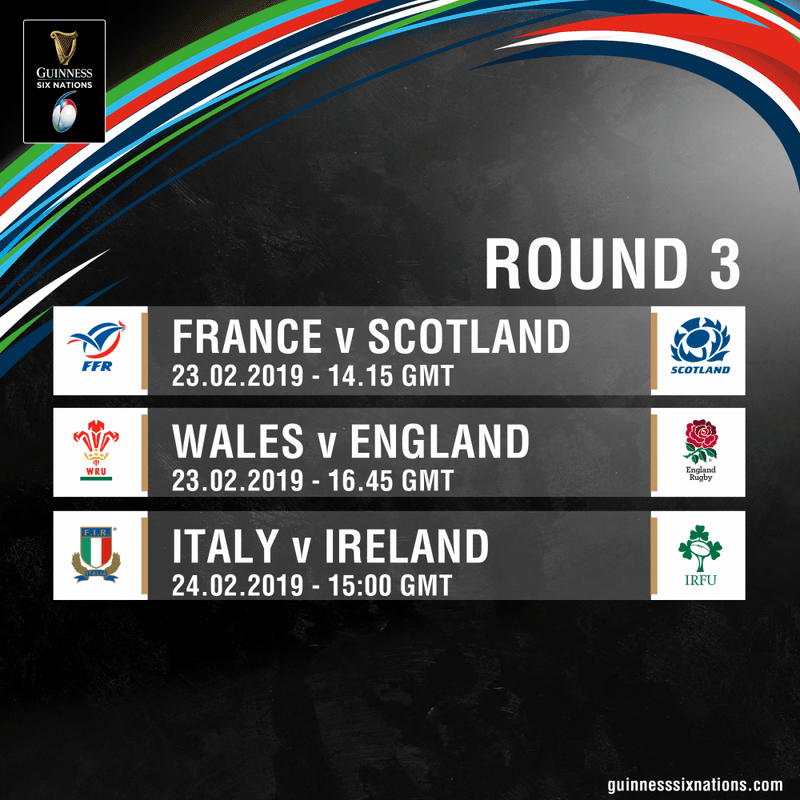 Round 3 of this years 6 Nations