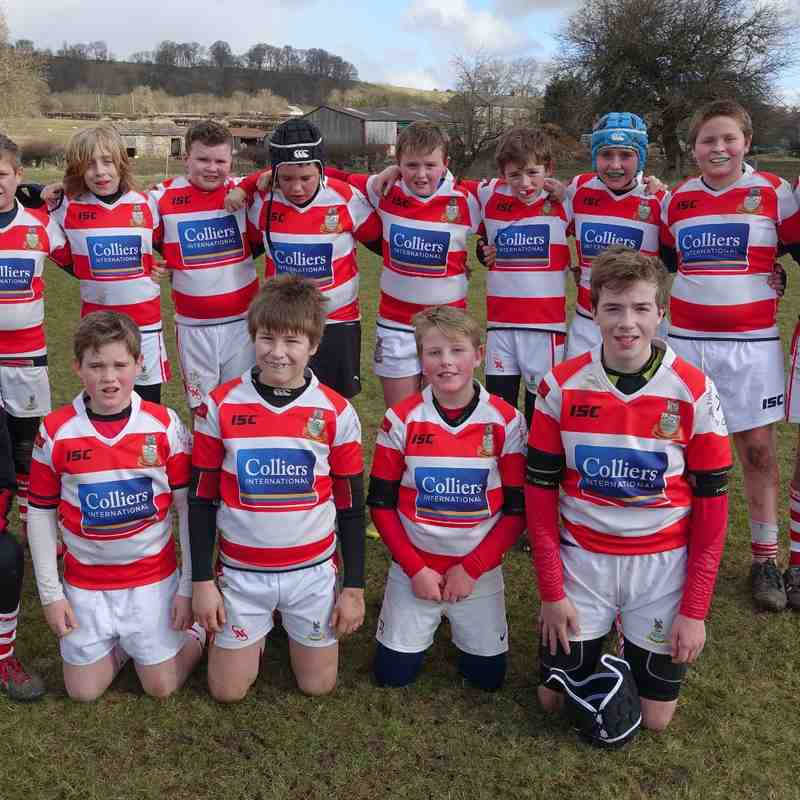 U12 at Wensleydale RUFC 28th February 2016