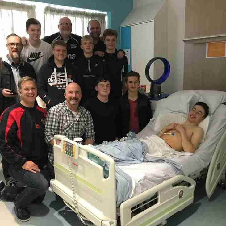 Crewe & Nantwich RUFC U16s Squad raises £2000 for the Liverpool Ronald McDonald House That Supported Team Mate
