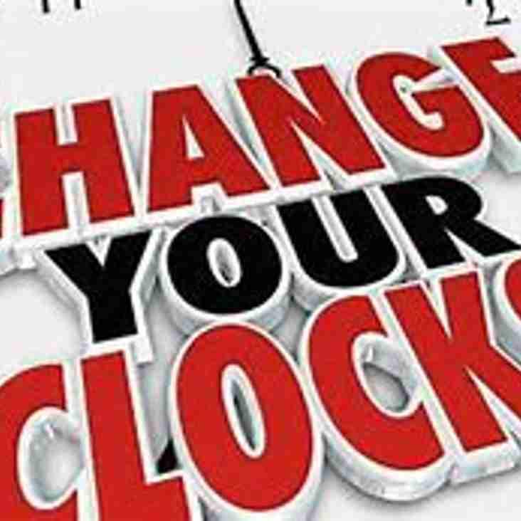 Remember to put Clocks forward