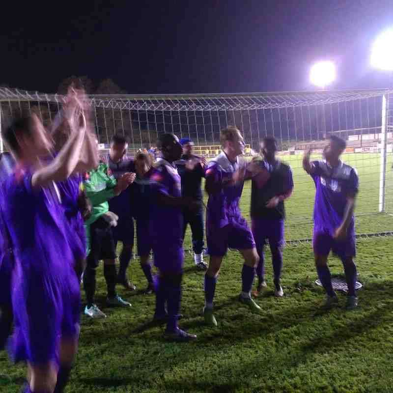 History Makers: FA Cup 3rd Round Qualifying Replay Victory Celebrations