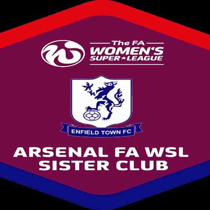 Enfield Town Ladies Are An Arsenal WFC sister club