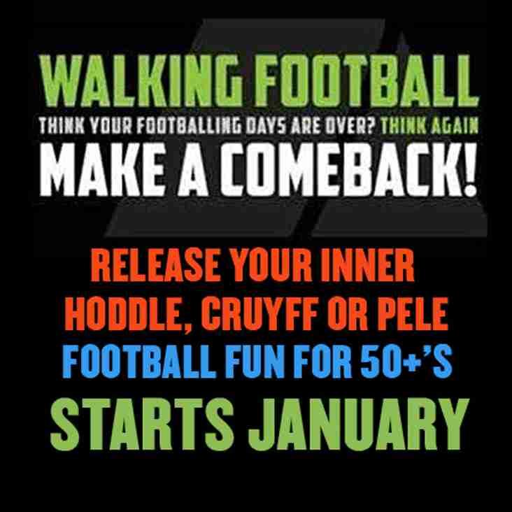 Walking Football Kicks-off Again in January