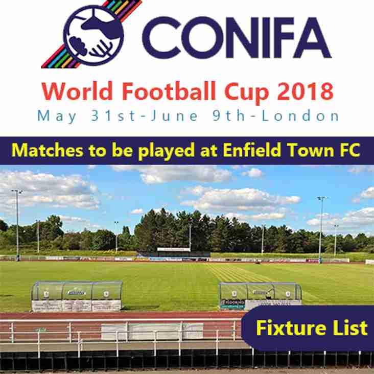 CONIFA World Football Cup Fixtures