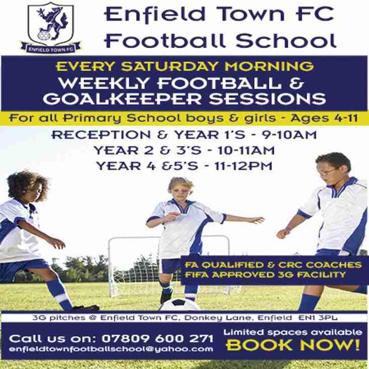 New Football School Terms Begins 8th September