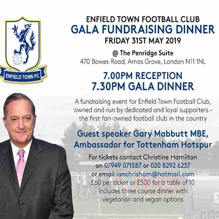 ENFIELD TOWN FOOTBALL CLUB GALA FUNDRAISING DINNER