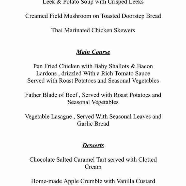 Annual Dinner - get your money and menu selections in!