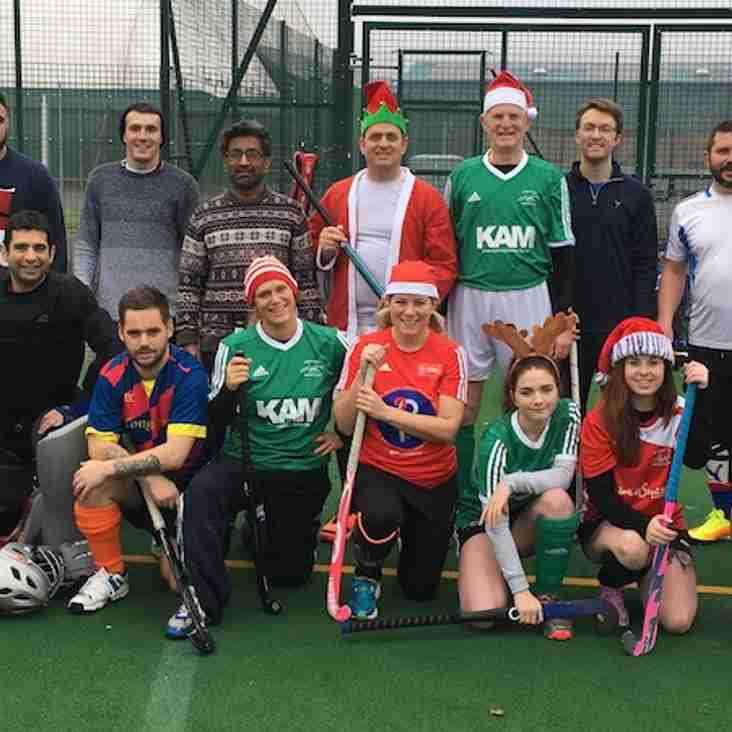 North Wilts Hockey Club Christmas Match 2016 - video