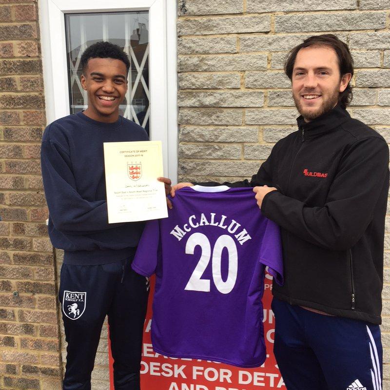 Former Player in final England Schoolboy Trials