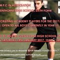 Change of Venue - Academy Trials - 14th January 2017