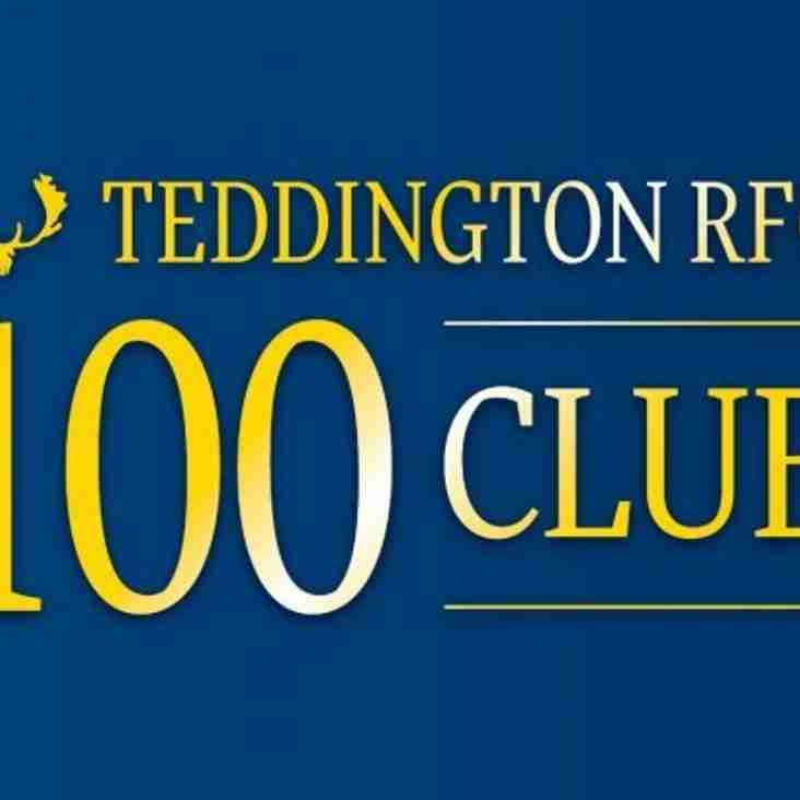 Teddington RFC 100 Club Winners