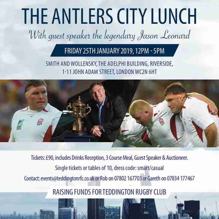 The Antlers City Lunch - a few remaining places now available