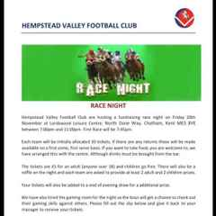 Club Race Night - Fri 20th November