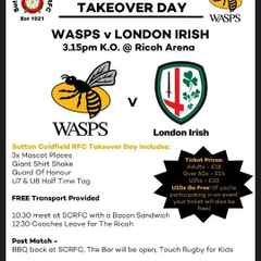 SCRFC Wasps Takeover Day! - Saturday 7th May