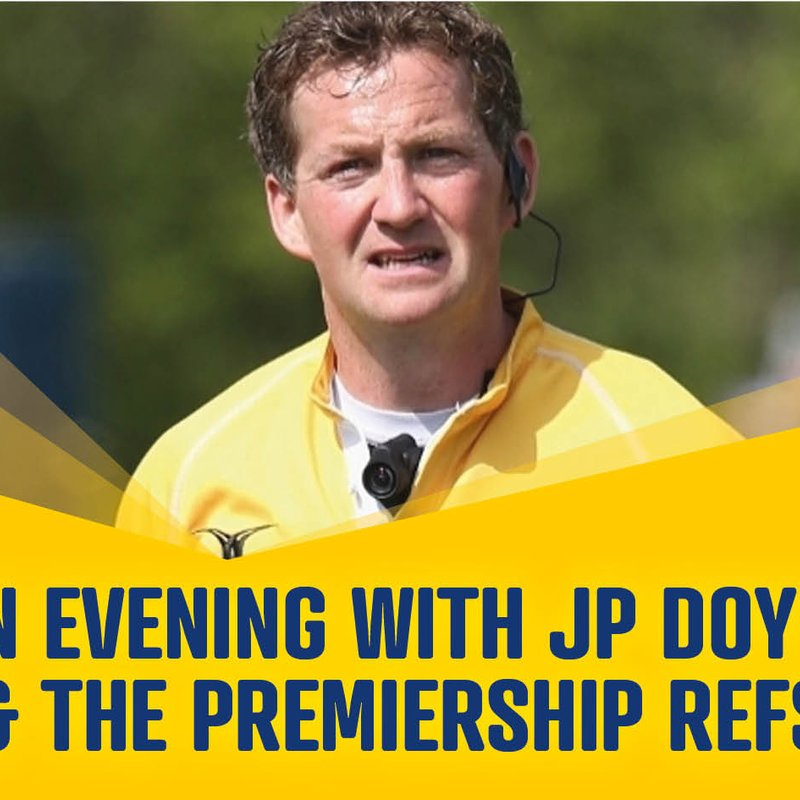 An evening with JP Doyle & The Premiership Refs