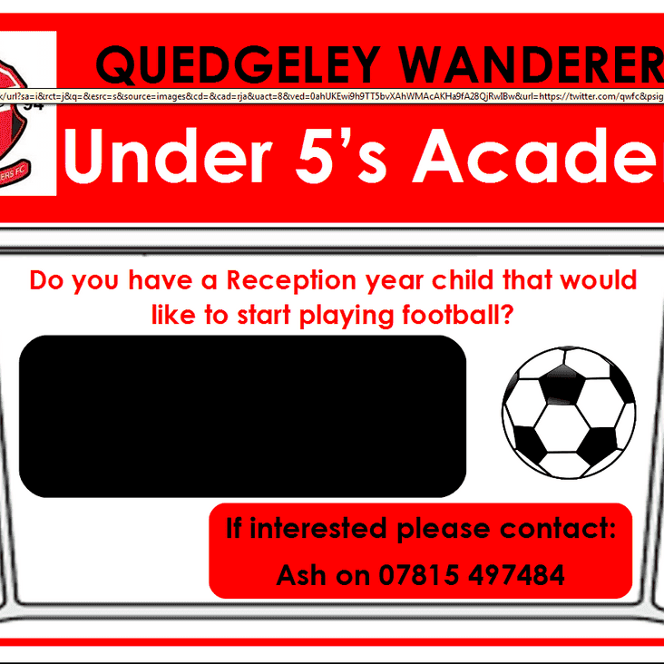 QWFC Unders 5s football academy