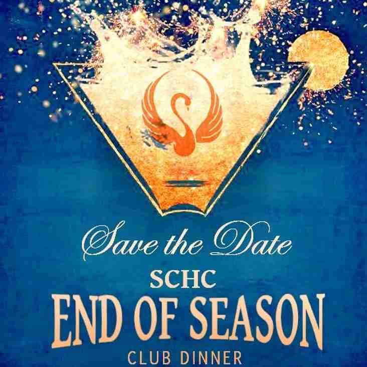End of Season Club Dinner Friday 11th May