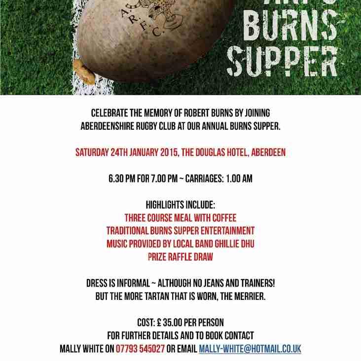 ARFC Annual Burns Supper 2015