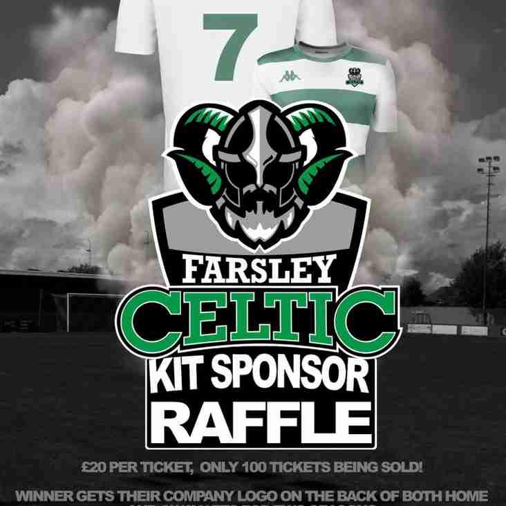 Farsley Celtic Kit Sponsor Raffle