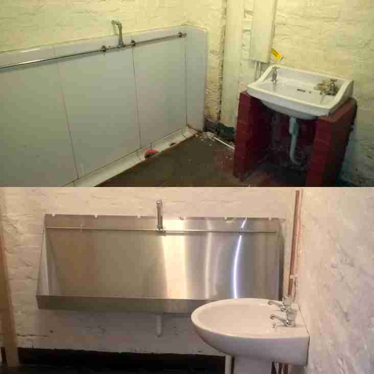 Toilet refurb nearing completion.
