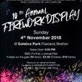 Firework display  Sunday 4th November 2018