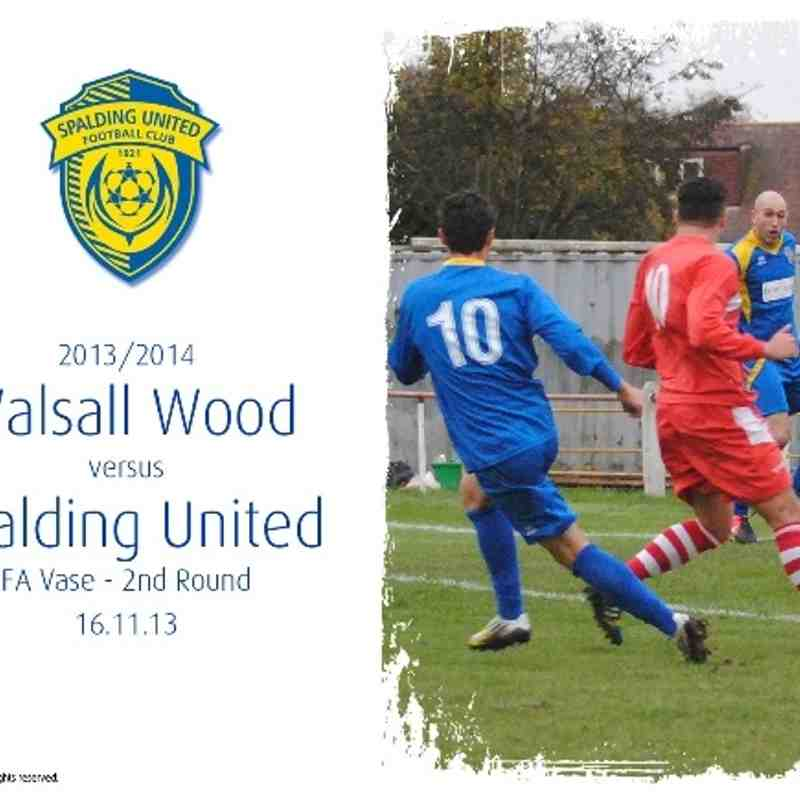 2013/14 : Walsall Wood v SUFC (16.11.13)