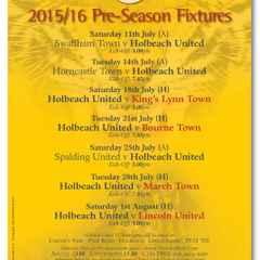 Poster: 2015/16 Pre-Season Fixtures