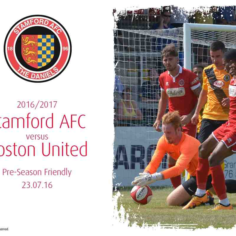2016/17 : Stamford AFC v Boston United (23.07.16)