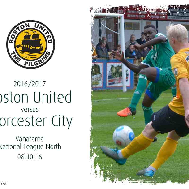 2016/17 : Boston United v Worcester City (06.10.16)