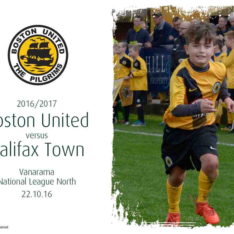 2016/17 : Boston United v Halifax Town (22.10.16)