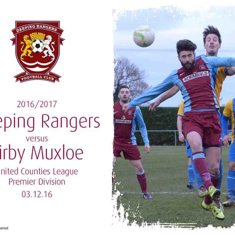 2016/17 : Deeping Rangers v Kirby Muxloe (03.12.16)