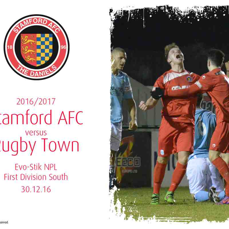 2016/17 : Stamford AFC v Rugby Town (30.12.16)