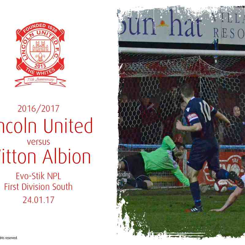 2016/17 : Lincoln United v Witton Albion (24.01.17)