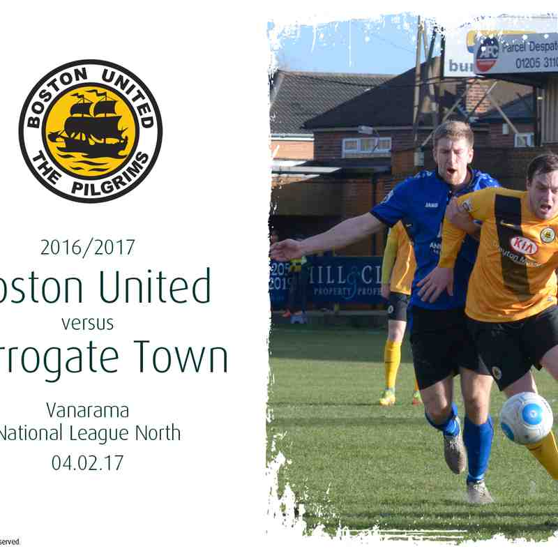 2016/17 : Boston United v Harrogate Town (04.02.17)