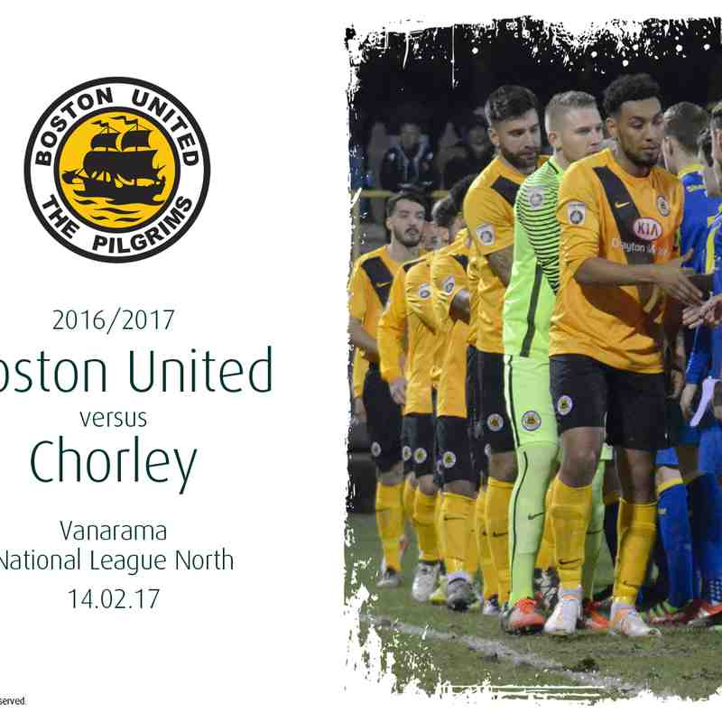 2016/17 : Boston United v Chorley (14.02.17)