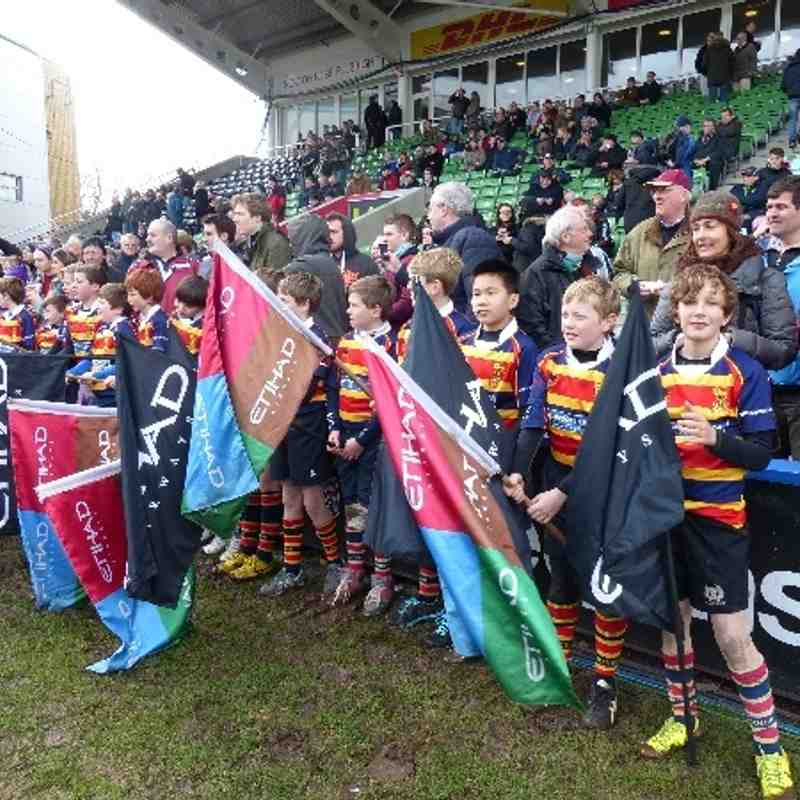 U12s at The Stoop Feb 2014