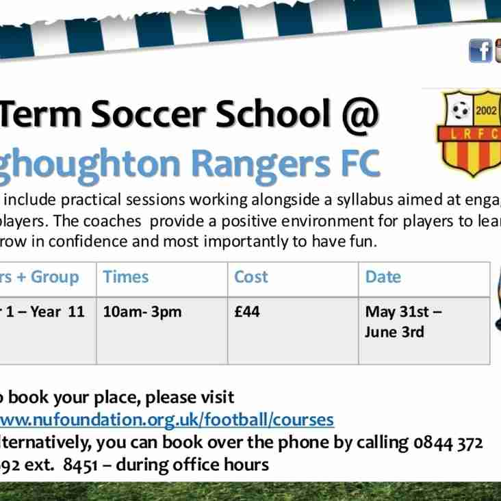 Half Term Soccer School at Longhoughton Rangers FC