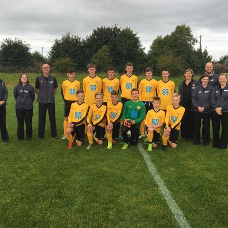 LonghoughtonRangersU16s  beat Wideopen Juniors 1 - 0